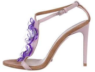 Burberry Floral Leather Sandals
