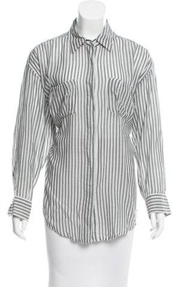 Elizabeth and James Striped Button-Up Top $75 thestylecure.com