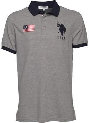 U.S. Polo Assn. Mens Rider Polo Grey Marl