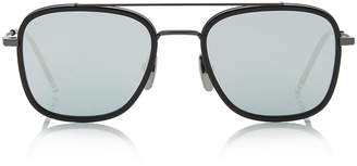 Thom Browne Mirrored Metal Aviator Sunglasses