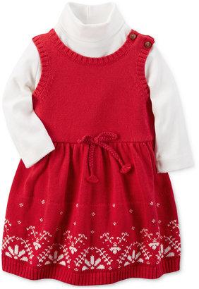 Carter's 2-Pc. Mock-Neck Bodysuit & Sweater Dress Set, Baby Girls (0-24 months) $40 thestylecure.com