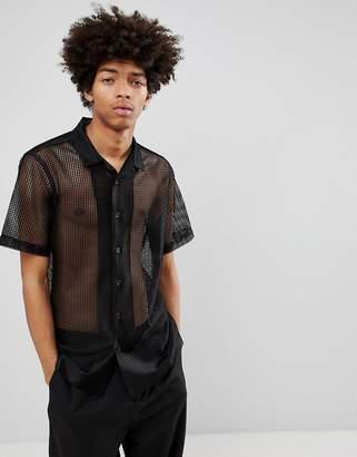 Asos Design Regular Fit Mesh Shirt