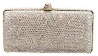 Oscar de la Renta Lizard Box Clutch