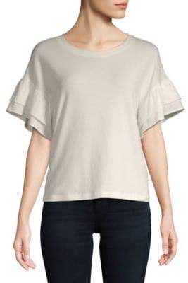 Saks Fifth Avenue Ruffle Short-Sleeve Top