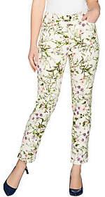 C. WonderC. Wonder Petite Botanical Floral Print Ankle Jeans