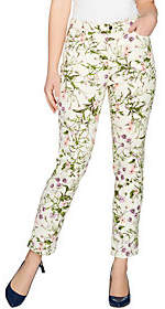 C. Wonder Petite Botanical Floral PrintAnkle Jeans