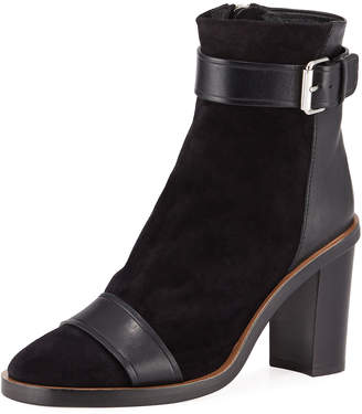 Isabel Marant Gussie Suede and Leather Booties