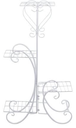 Turdylsa Four-layer European Staircase Desktop Iron Metal Flower Stand Display Stand Shoe Rack handbag Decorative items Rack Plant Stand Rack Display Stand Storage Rack (White +45*26*81cm)