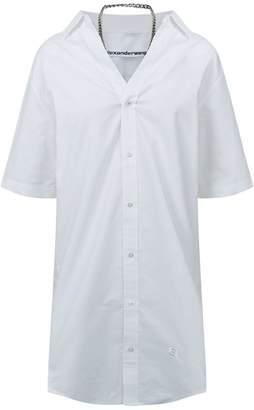 Alexander Wang Chain Detail Shirt Dress