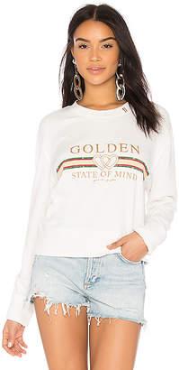 Spiritual Gangster Golden State Crop Sweatshirt