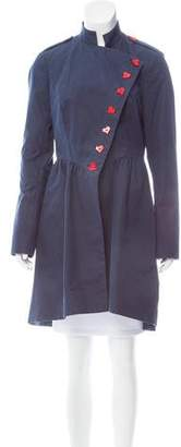 Gryphon Knee-Length Stand Collar Jacket