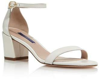 Stuart Weitzman Women's Simple Block Heel Sandals