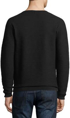 Emporio Armani Wavy Jacquard Pullover Sweater