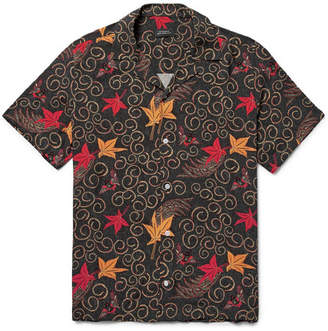 Saturdays NYC Batik Canty Camp-Collar Printed Shirt