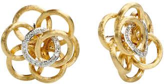 Marco Bicego Jaipur Link 18K 0.28 Ct. Tw. Diamond Flower Studs Earrings