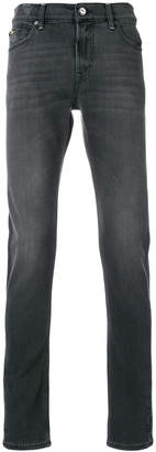 7 For All Mankind faded straight-leg jeans
