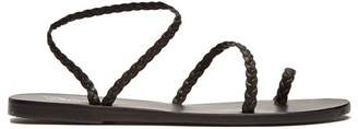 Ancient Greek Sandals Eleftheria Braided Leather Sandals - Womens - Black