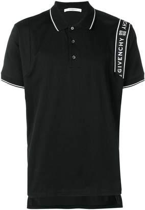 Givenchy side logo stripe polo shirt