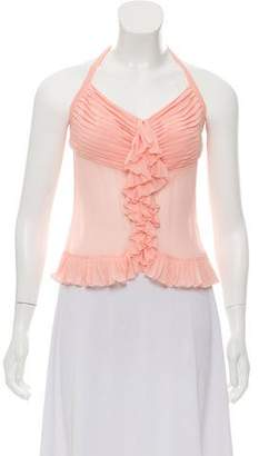 Chanel Silk Halter Top
