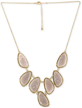 Rachel Roy Gold-Tone Blush Stone Necklace