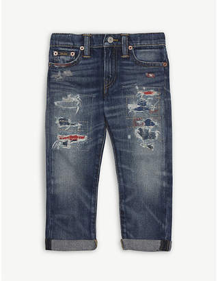 Ralph Lauren Ripped denim jeans 2-4 years