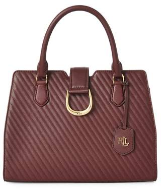 Ralph Lauren Quilted Leather City Satchel