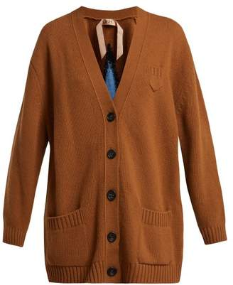 No.21 No. 21 - Star Intarsia Wool Cardigan - Womens - Camel