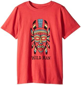 Life is Good Wild Man Mask Crusher Tee Boy's T Shirt