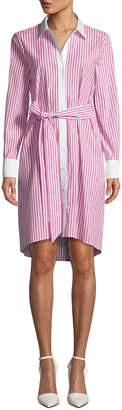 Badgley Mischka Candy Stripe Shirtdress