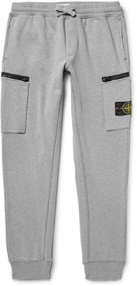Stone Island Slim-Fit Tapered Loopback Cotton-Jersey Sweatpants $230 thestylecure.com