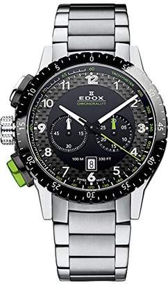 Edox Men's 10305 3NVM NV Chronorally 1 Analog Display Swiss Quartz Silver Watch