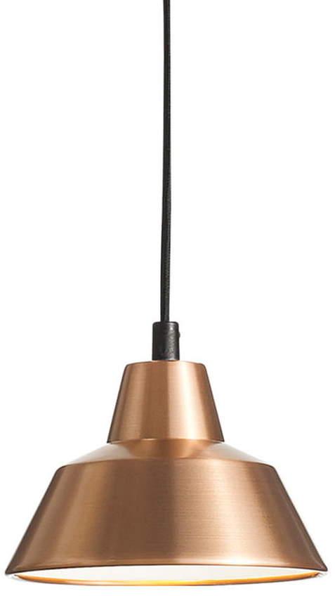 Made by Hand - Workshop Lamp W1, Kupfer / weiß / schwarz