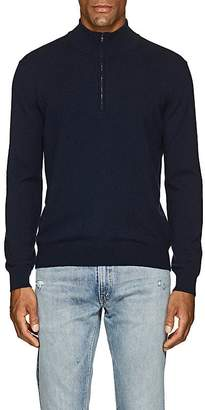 Barneys New York Men's Cashmere Half-Zip Mock-Turtleneck Sweater