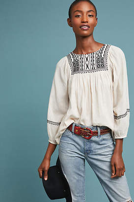 Velvet by Graham & Spencer Vanna Embroidered Blouse