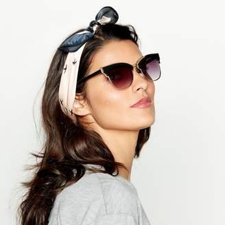 Red Herring Black Metal Frame Cat-Eye Sunglasses