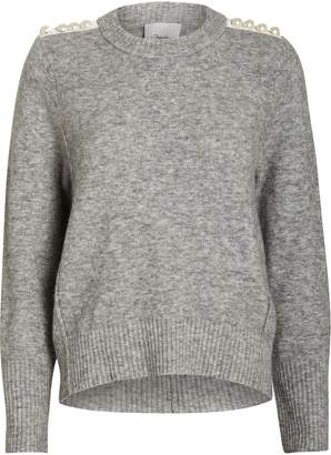 3.1 Phillip Lim Lofty Pearl Embellished Sweater