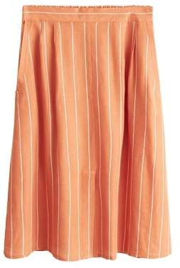 MANGO Flowy striped skirt