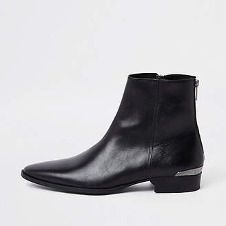 River Island RI 30 black leather chelsea boots