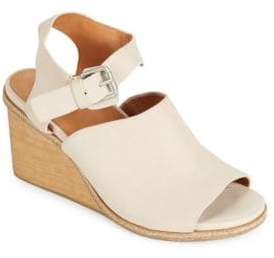 Kenneth Cole Gentle Souls by Gerry Leather Wedge Sandals