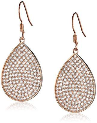 clear Lisa Freede Jewelry -Plated Micro Pave Lesa with Crystals Drop Earrings