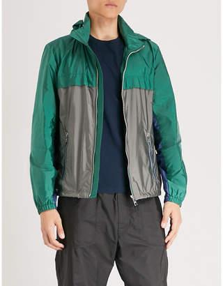 Prada Two-tone hooded nylon jacket