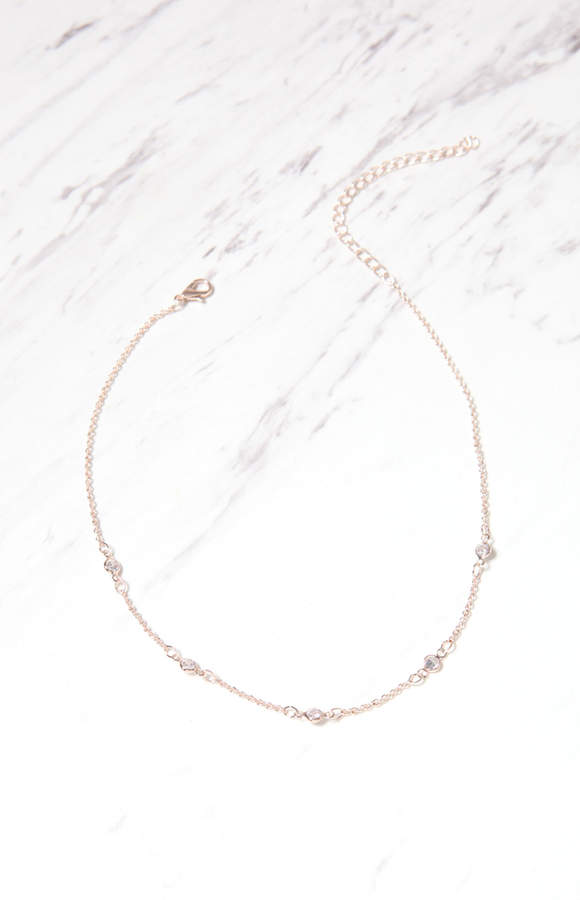 La Hearts Crystal Stone Layering Necklace