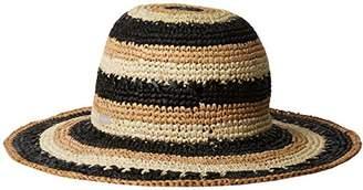 Betmar Women's Violet Raffia Braid Floppy Hat