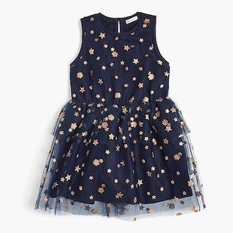J.Crew Girls' tulle dress in stars and flowers