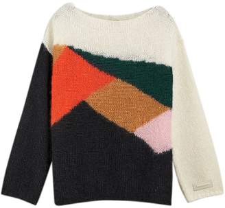 Burberry colour-block geometric sweater