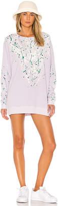Wildfox Couture Bleach Dripped Roadtrip Sweatshirt Dress