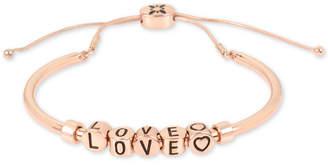 BCBGMAXAZRIA Inspirational Word Beaded Slider Bracelet