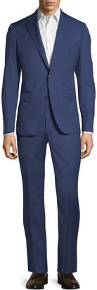 Neiman Marcus Modern Fit Two-Piece Wool Suit, Navy