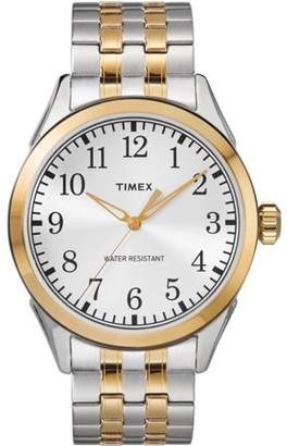 Timex Men's Briarwood Two-Tone Watch, Stainless Steel Expansion Band