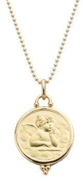 Temple St. Clair Angel 18K Yellow Gold Large Pendant